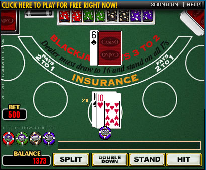 Enjoy our free blackjack game